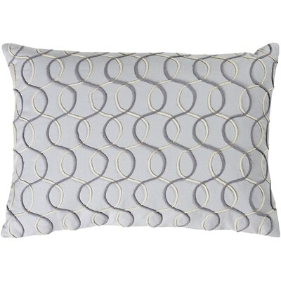 Solid Bold II Cotton Lumbar Pillow Color: Medium Gray/Charcoal