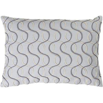 Solid Bold II Cotton Lumbar Pillow Color: Medium Gray/Charcoal