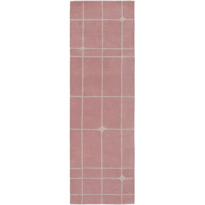 Mod Pop Hand-Tufted Gray/ Blush Red Area Rug Rug Size: Runner 26 x 8