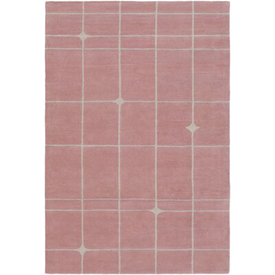 Mod Pop Hand-Tufted Pink Area Rug Rug Size: 2 x 3