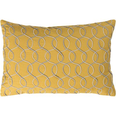 Solid Bold II Cotton Lumbar Pillow Color: Bright Yellow