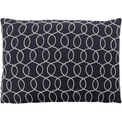 Solid Bold II Cotton Lumbar Pillow Color: Black/Cream