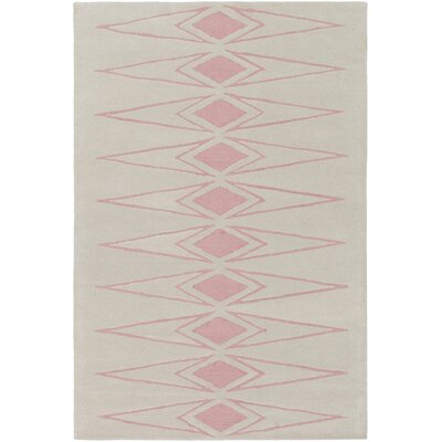 Hand-Tufted Beige Area Rug Rug Size: Rectangle 26 x 8