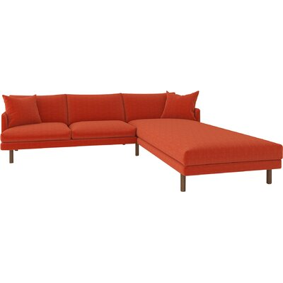 Tabitha Sectional Upholstery: Cassandra Orange