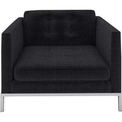 Jack Armchair Body Fabric: Malagna Black