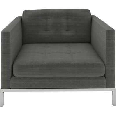 Jack Armchair Body Fabric: Klein Charcoal