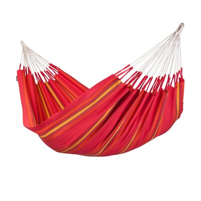 Currambera Double Cotton Tree Hammock Color: Cherry