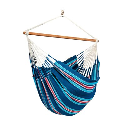 CURRAMBERA Cotton and Polyester Chair Hammock Color: Blueberry