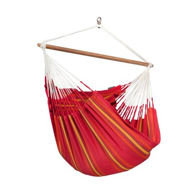 CURRAMBERA Cotton and Polyester Chair Hammock Color: Cherry