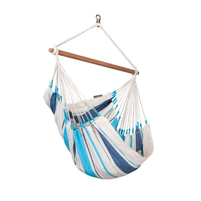CARIBE�A Cotton Chair Hammock Color: Aqua Blue