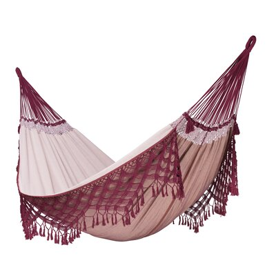 BOSSANOVA Organic Family Cotton Tree Hammock Color: Bordeaux