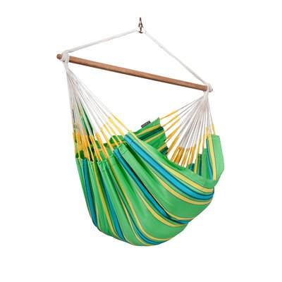 CURRAMBERA Cotton and Polyester Chair Hammock Color: Kiwi