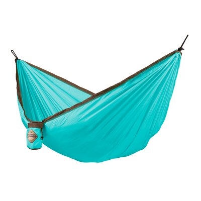Colibri Single Travel Nylon Camping Hammock Color: Turquoise