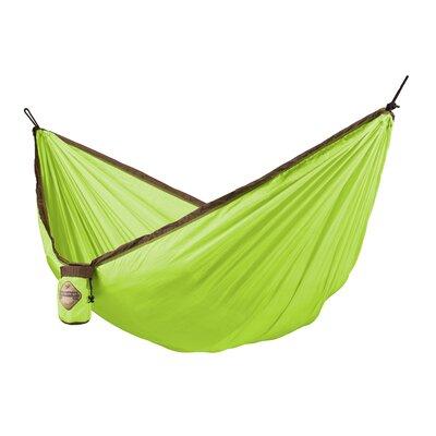 Colibri Single Travel Nylon Camping Hammock Color: Green