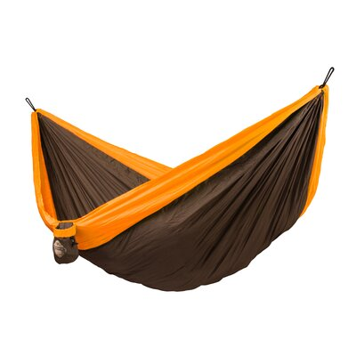 Colibri Double Travel Nylon Camping Hammock Color: Orange