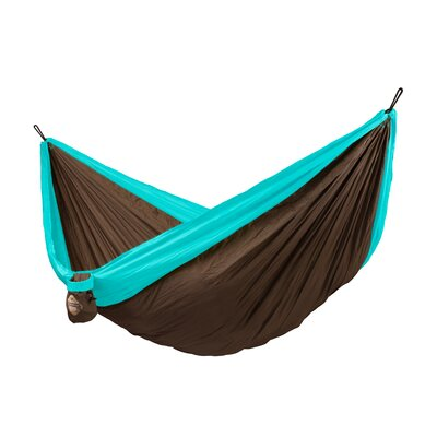 Colibri Double Travel Nylon Camping Hammock Color: Turquoise