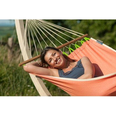 FRUTA Weatherpoof Single Spreader Bar Olefin Tree Hammock Color: Mango