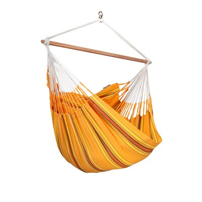 CURRAMBERA Cotton and Polyester Chair Hammock Color: Apricot