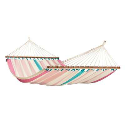 COLADA Weatherproof Double Spreader Olefin Tree Hammock Color: Lychee