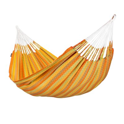 CAROLINA Double Cotton Tree Hammock Color: Citrus