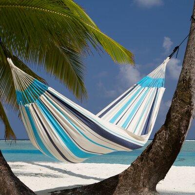 CARIBE�A Single Cotton Tree Hammock Color: Aqua Blue