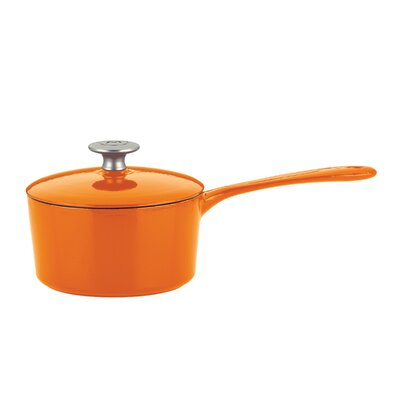 Mario Batali 2-Qt. Saucepan with Lid - Color: Persimmon