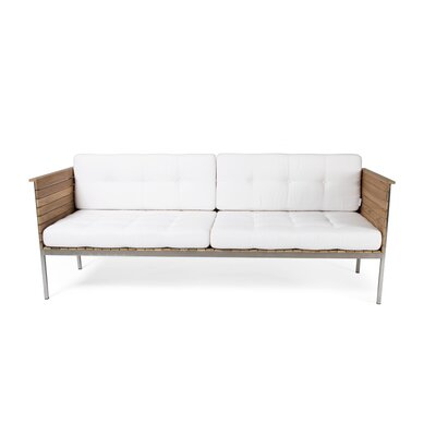 Haringe Outdoor Sofa Cushion Fabric: White Leather