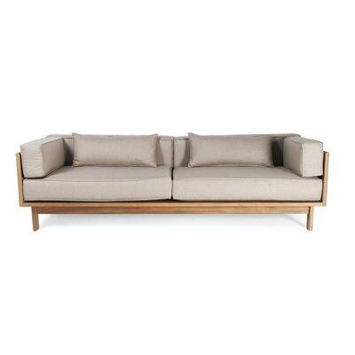 Falsterbo Outdoor Sofa Cushion Fabric: Natural Sunbrella