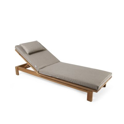 Falsterbo Outdoor Chaise Lounge Cushion Fabric: Dark Grey Sunbrella Natte Sooty