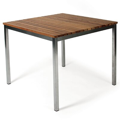 Haringe Dining Table Finish: Brushed Stainless Steel