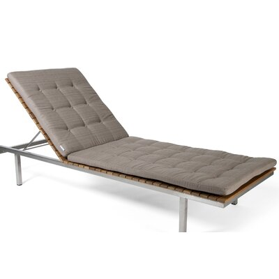 Haringe Outdoor Chaise Lounge Cushion Fabric: Natural Sunbrella