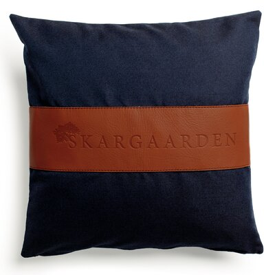 Snack Throw Pillow Fabric: Dark Blue
