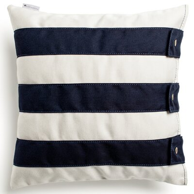 Fide Throw Pillow Fabric: Marine Blue