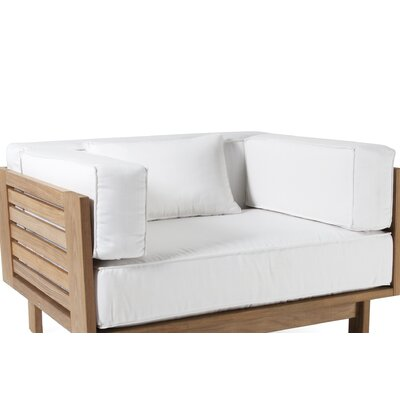 Falsterbo Outdoor Arm Chair Cushion Fabric: White Sunbrella