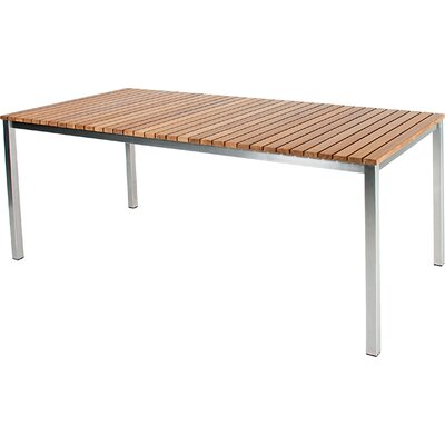 Haringe Dining Table Table Size: Medium, Finish: Brushed Stainless Steel