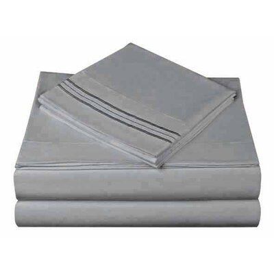 1800 Series Collection Sheet Set Size: King, Color: Gray