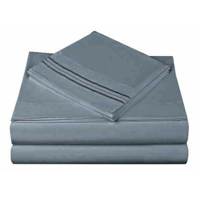 1800 Series Collection Sheet Set Size: Twin, Color: Cloud