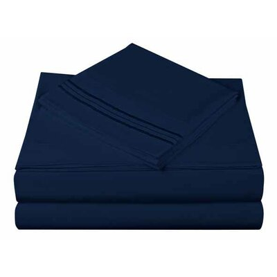 1800 Series Collection 4 Piece Sheet Set Color: Megan Blue, Size: Queen
