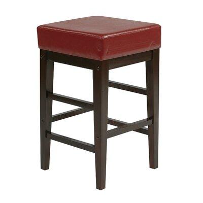 25.5 Bar Stool Upholstery: Crimson Red