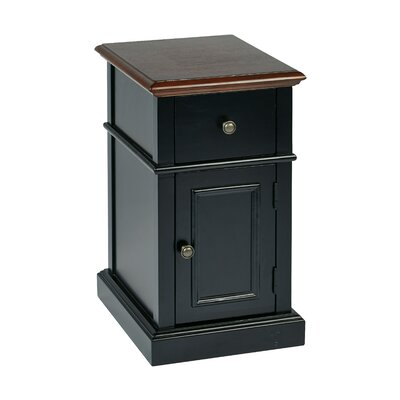 Randel Chair Side Table Color: Black Two Tone