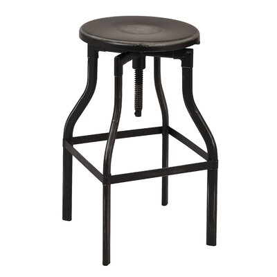 Eastvale Adjustable Height Swivel Bar Stool Finish: Antique Black