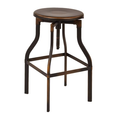Eastvale Adjustable Height Swivel Bar Stool Finish: Antique Copper