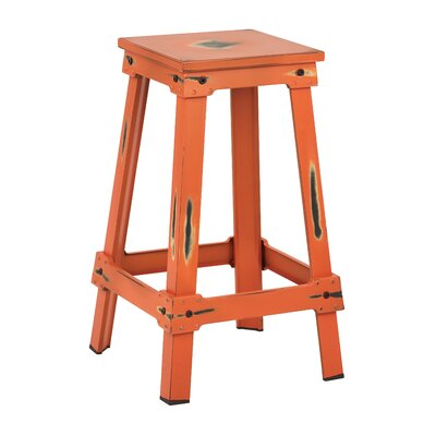 Buharkent 26 Bar Stool Finish: Antique Orange