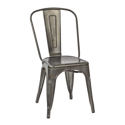Fineview Dining Side Chair Finish: Matte Galvanized