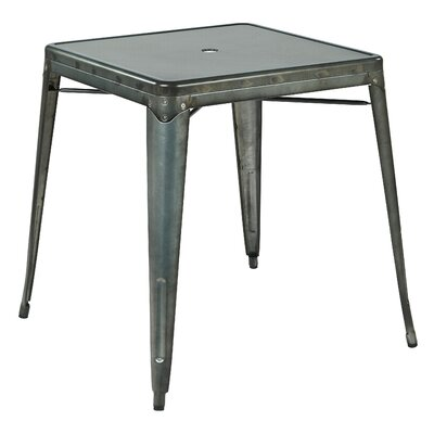Bristow Dinning Table Finish: Matte Galvanized
