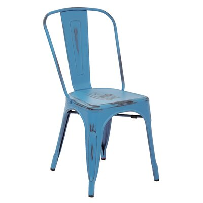 Fineview Side Chair Finish: Blue