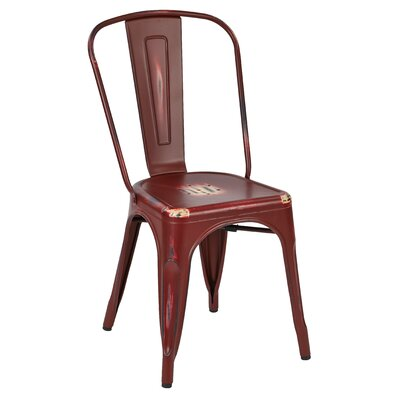 Fineview Side Chair Finish: Red