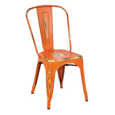 Fineview Dining Side Chair Finish: Orange