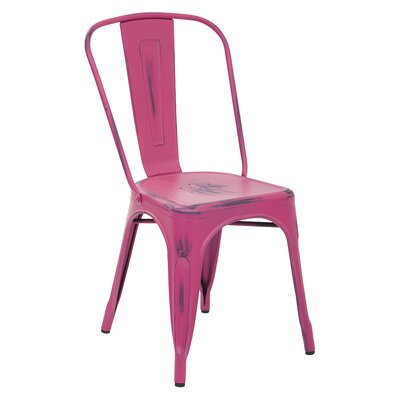 Fineview Side Chair Finish: Pink