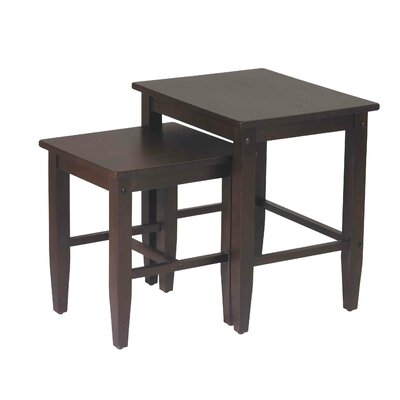 OSP Designs ES19 Tables Nesting Table Set in Espresso